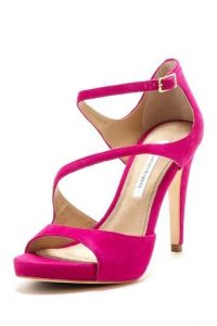 Hot Pink Strappy Sandals