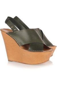Images of Leather Platform Sandals