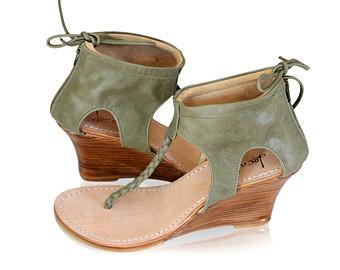 Olive Green Sandals   CraftySandals.com