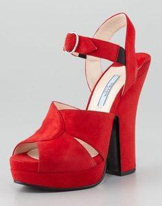 Images of Red Platform Sandals
