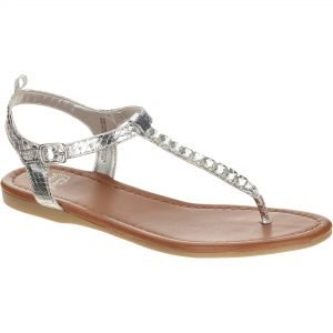 Images of Silver T Strap Sandals