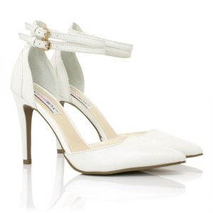 Images of White Ankle Strap Sandals