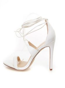 Images of White Lace Up Sandals