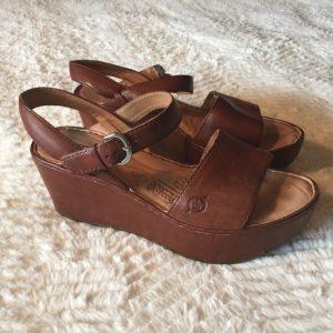 Leather Platform Sandals Images