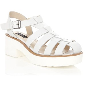 Leather White Sandals