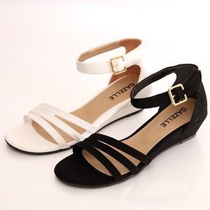 Low Heel Ankle Strap Sandals