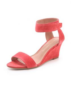 Low Wedge Sandals with Ankle Strap