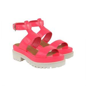 Neon Pink Platform Sandals