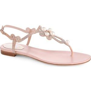 Pale Pink Flat Sandals