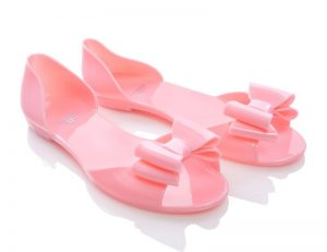 Pastel Pink Jelly Sandals