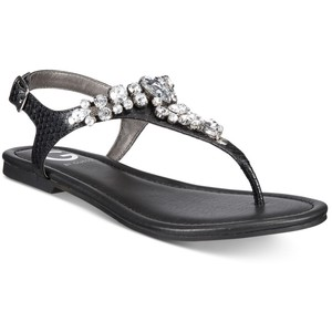Pictures of Black Rhinestone Sandals