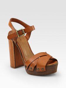 Pictures of Tan- Platform Sandals