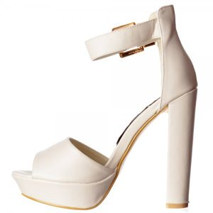 Pictures of White Ankle Strap Sandals