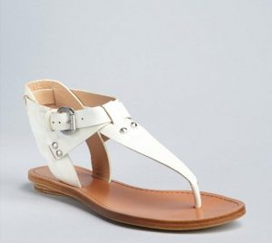 Pictures of White Leather Sandals
