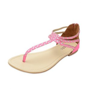 Pink Flat Sandals Pictures