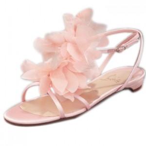 Pink Flat Sandals Wedding