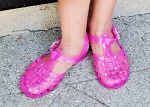 Pink Jelly Sandals Photos