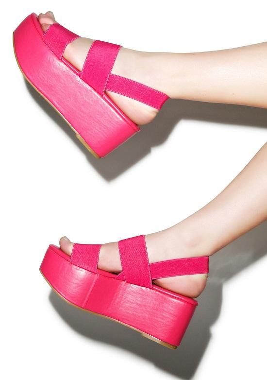 Pink Platform Sandals | CraftySandals.com