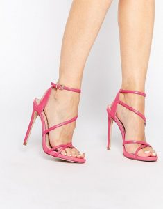 Pink Strappy High Heel Sandals