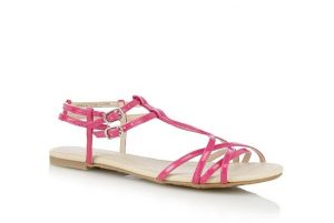 Pink Strappy Sandals Pictures