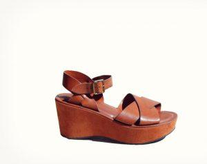 Platform Brown Sandals