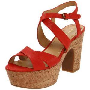Platform Red Sandals