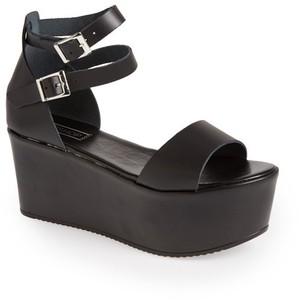 Platform Sandal with Ankle Strap