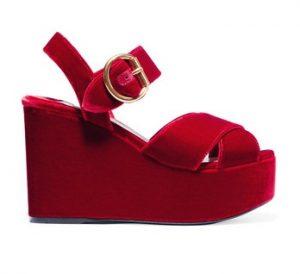 Platform Sandals Red