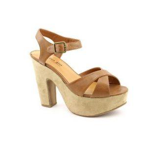 Platform Tan Sandals