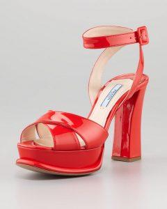 Red Platform Sandal