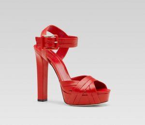 Red Platform Sandals Images
