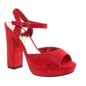 Red Platform Sandals Pictures
