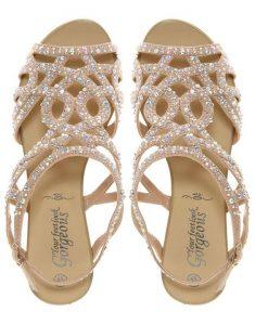 Rhinestone Sandals Wedding Pictures