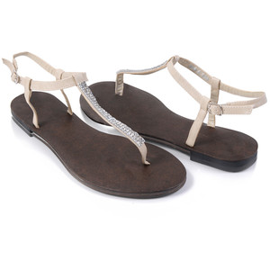 Rhinestone Thong Sandals Images