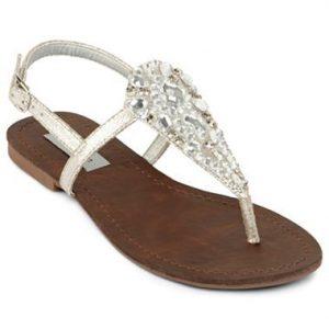 Rhinestone Thong Sandals Photos