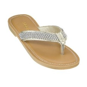 Rhinestone Thong Sandals Pictures