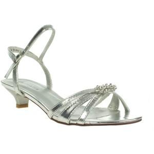 Silver Low Heel Sandals