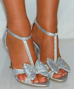Silver Low Heeled Sandals