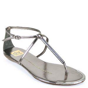Silver T Strap Sandals Photos