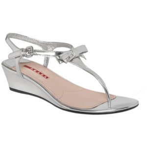 Silver T Strap Sandals Pictures