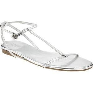 Silver T Strap Sandals