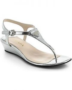 Silver Thong Sandals Images