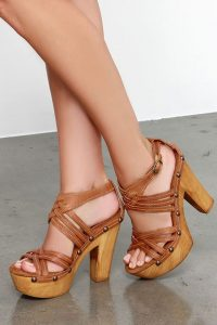 Tan Platform Sandal