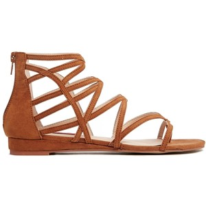 new high outlet store sells Tan Strappy Sandals | CraftySandals.com