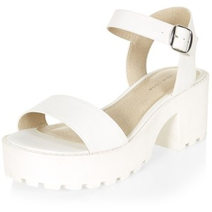 White Ankle Strap Sandals Images