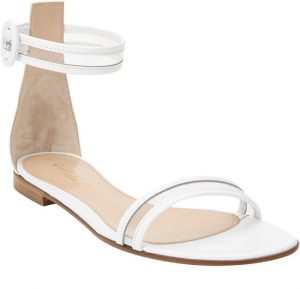 White Ankle Strap Sandals Photos
