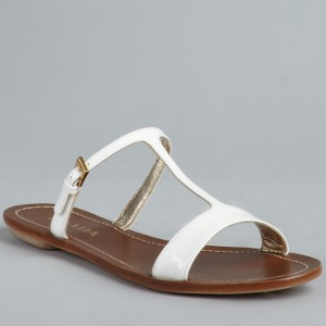 White Leather Sandals Photos