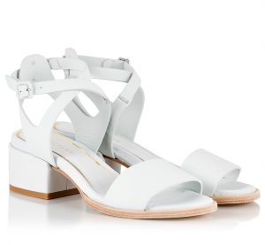 White Leather Sandals Pictures