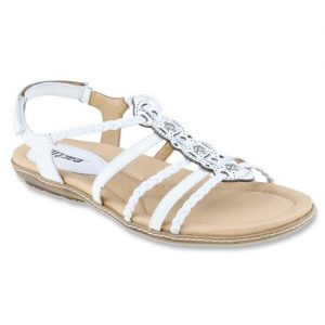 White Sandals Leather