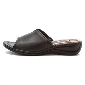 Womens Black Slide Sandals